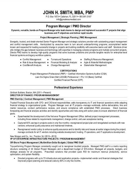 Program Manager Resume by 40 Free Manager Resume Templates Pdf Doc Free