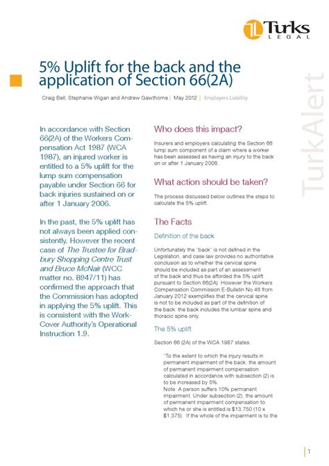 5 Uplift For The Back And The Application Of Section 66