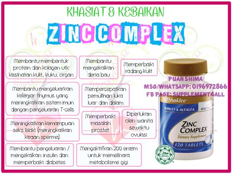 supplement zinc untuk lelaki supplement4all specially created 4 you kebaikan dan