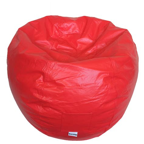recliner bean bag chair furniture adult bean bag chair with round chair and red