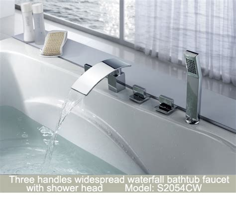 Bathtub In The Shower Sumerain Sanitary Wares Waterfall Faucet Faucets Led