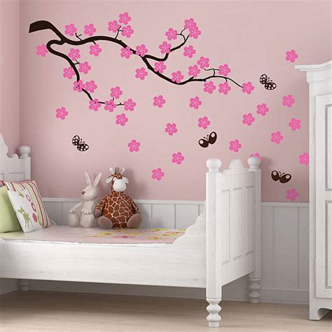 Wallsticker Uk50x70 Wall Sticker Black Eiffel cherry blossom branch wall stickers by parkins interiors