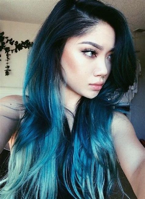 dye bottom hair tips still in style 30 hot dyed hair ideas blue ombre hair coloring and