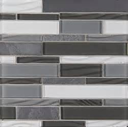 Gray Glass Tile Kitchen Backsplash Organic Pewter Elume Random Bricks Grey Backsplash Glossy And Unpolished Glass Modern Tile