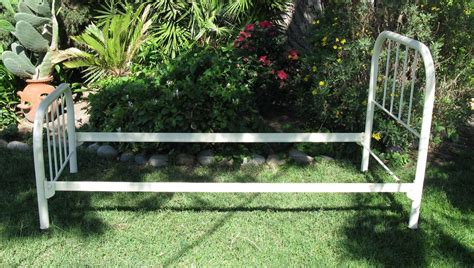 Antique Old Vintage Reconditioned Twin Metal Bed Frame Made In Where Can I Buy A Metal Bed Frame
