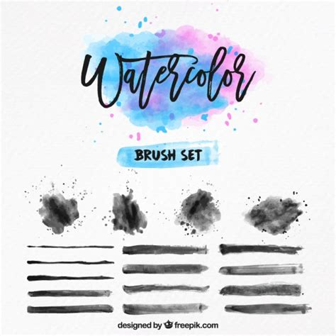 water color brushes watercolor brush set vector free