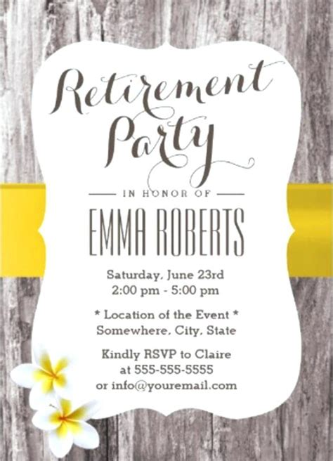 retirement announcement flyer template retirement announcement flyer wood background