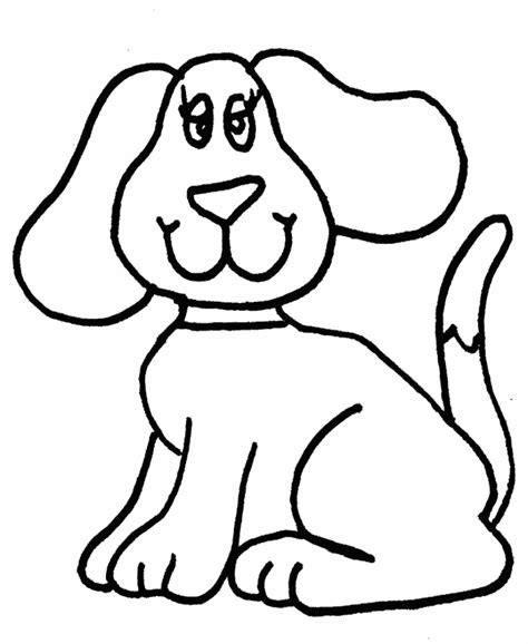 simple dog coloring page easy dog coloring pages ekids pages free printable
