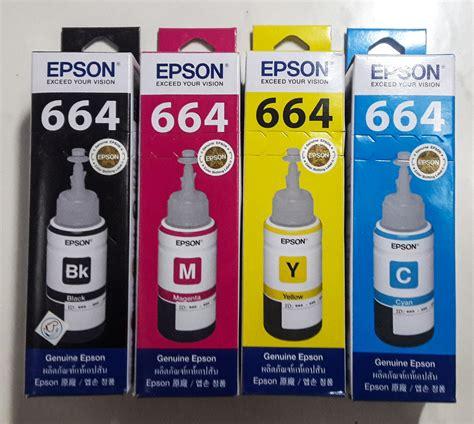 Tinta Epson Ori 664 jual tinta epson original l100 l110 l120 l200 l210 l220