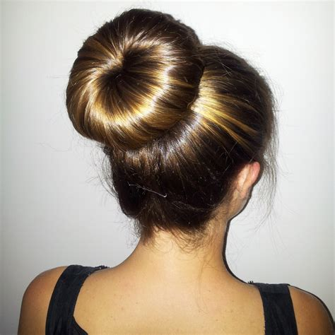 hairstyles with a hair donut easy classy donut bun hairstyles to create neat image