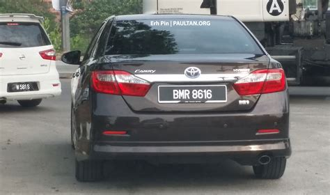 Toyota Camry Hybrid Malaysia Spyshot Toyota Camry Hybrid Spotted On The Road Image 257549