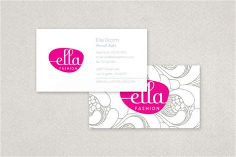 ella fashion business card template inkd