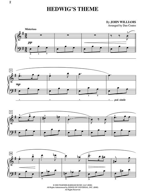 theme songs violin hedwig s theme sheet music piano pinterest sheet