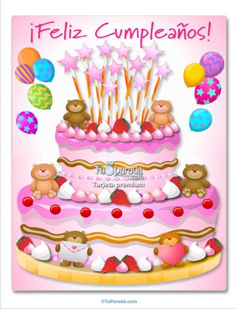 felicitaciones de cumpleanos con torta de colores torta con ositos rosa im 225 genes de cumplea 241 os tarjetas