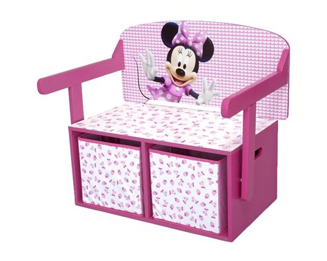 minnie mouse storage bench minnie mouse storage box desk wooden toy chest girls kids