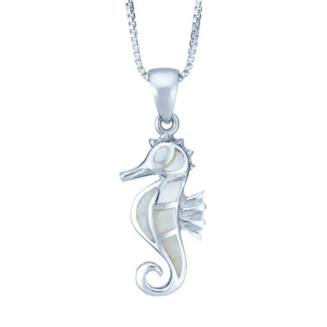 Shopping Charm Necklace by Reef Seahorse Necklace Of Pearl Landing Company