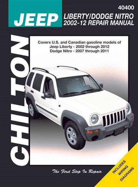 Jeep Liberty Dodge Nitro Repair Manual 2002 2012