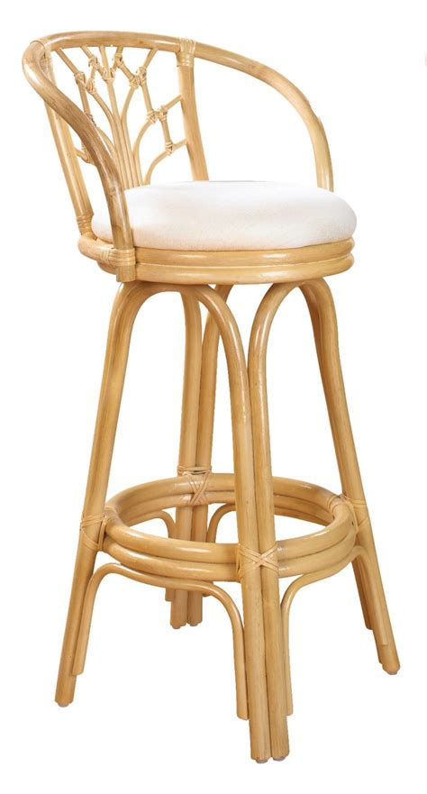 White Rattan Counter Stools by Bali Indoor Swivel Rattan Wicker 24 Quot Counter Stool In