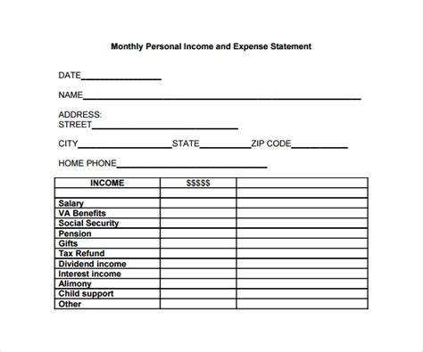 Income And Expense Statement Template 10 Expense Statement Templates To Download Sle Templates