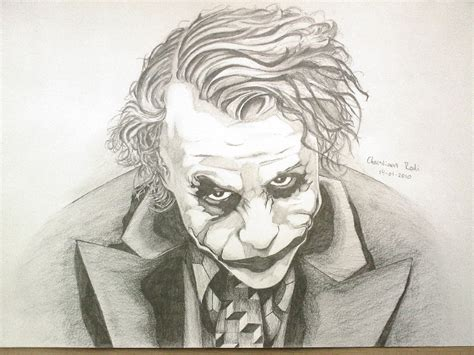 Drawing Joker by Joker Drawing 14 01 2010 By Christiaanr1990 On Deviantart