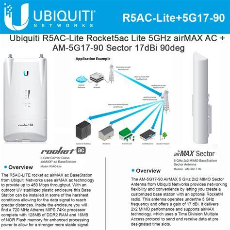 Ubiquity Sectoral Mimo 5ghz 17dbi 90deg Am 5g17 90 air max 17dbi 5ghz sector antenna
