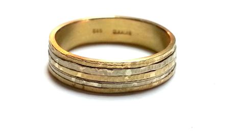 mixed metal wedding band his and s wedding band by