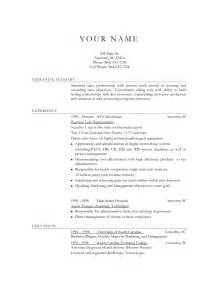 A Sle Of Resume For by Resume And Objective Ideas
