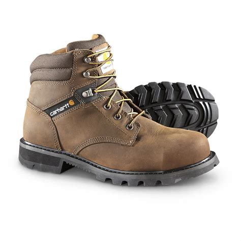 steel toe boots for carhartt traditional welt steel toe work boots brown