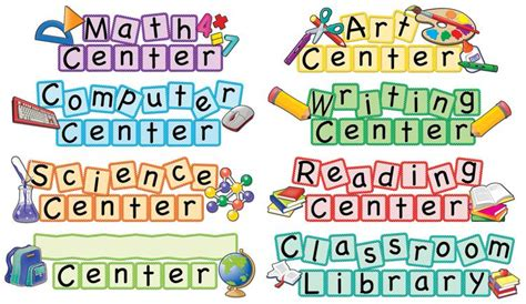 printables for kindergarten centers 5 best images of printable preschool center labels
