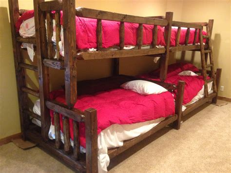 timber bunk beds rustic timber bunk beds strong bunk beds for