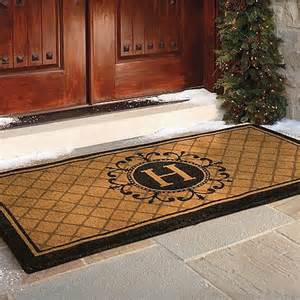 Front Door Matt Ascot Coco Entry Mat Frontgate Traditional Doormats By Frontgate