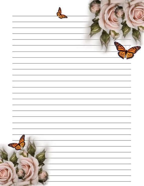 printable handwriting paper uk 121 best flower stationary images on pinterest writing