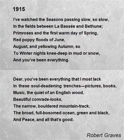 1915 poem by robert graves poem hunter