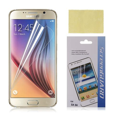 Tempered Glass Samsung Galaxy S6 Flat G920 Anti Gor Limited tempered glass clear screen protector guard for samsung galaxy s6 sm g920