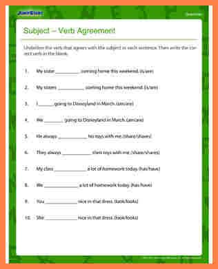 Subject Verb Agreement Worksheets 9th Grade by 7 Interactive Subject Verb Agreement Purchase