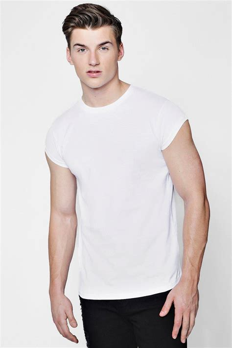 boohoo mens longline fit cap sleeve t shirt ebay