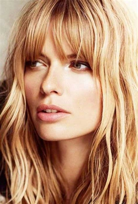 hairstyles for dirty bangs 25 blonde hairstyles with bangs long hairstyles 2016 2017