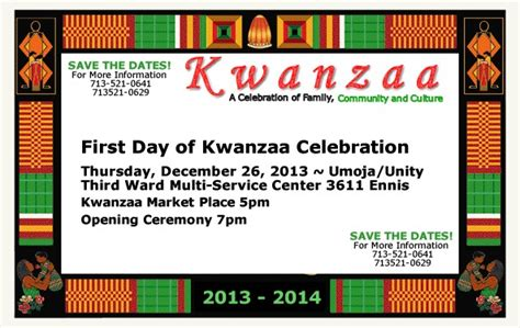 1st day of kwanzaa live broadcast
