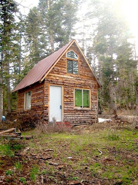 tiny cabin tiny log cabin with a tall sleeping loft tiny house pins