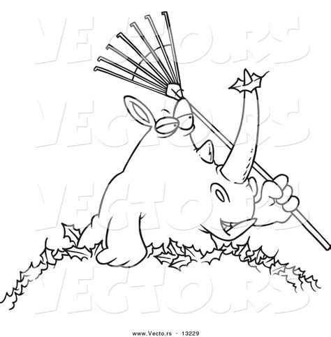 leaf pile coloring page rhinoceros mount colouring pages