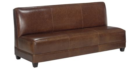 Armless Leather Settee Sofa Set With Ottoman And Chair Apartment Leather Sofa