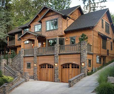 nw home plans plan w69144am mountain craftsman sloping lot northwest