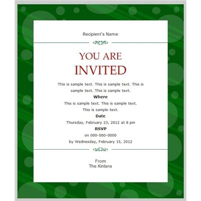 email invitation template best template collection
