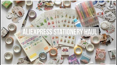aliexpress haul huge aliexpress stationery haul washi tape swatches