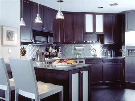 kitchens with stainless steel backsplash stainless steel tile backsplashes kitchen designs