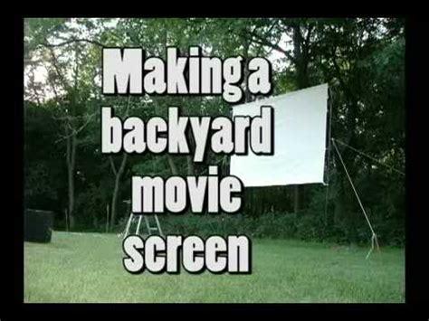 how to make a backyard movie screen building a backyard movie screen youtube