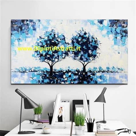 quadri ufficio quadro moderno per ufficio con alberi azzurri