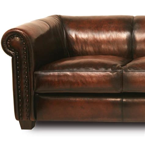 style brown leather sofa vintage style handmade brown leather sofa