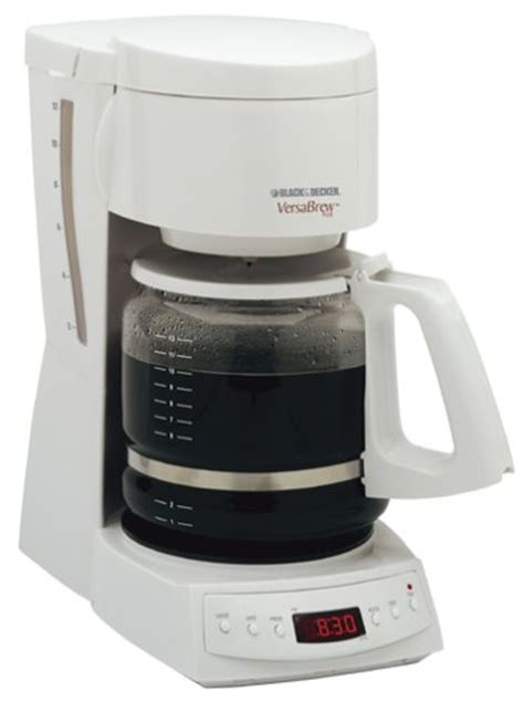 Spacemaker Coffee Maker: Black & Decker DCM1350 VersaBrew Plus 12 Cup Programmable Coffee Maker