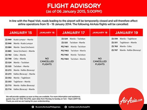 airasia z2 782 airasia cancels 24 flights for papal visit economy gma